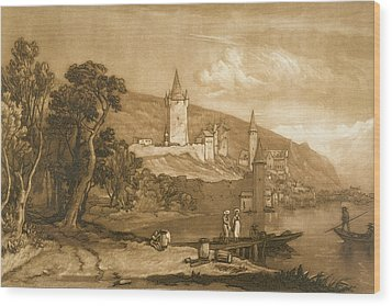 The Town Of Thun Wood Print by Joseph Mallord William Turner