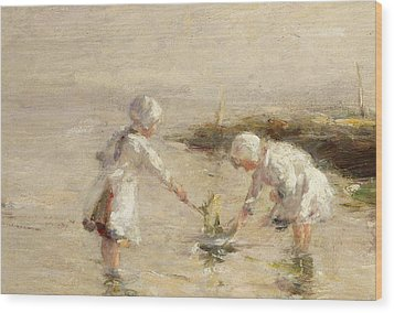 The Toy Boat Wood Print by Robert Gemmel Hutchison