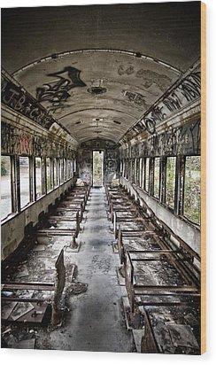 The Train Car Wood Print by Jessica Berlin