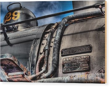 The Train Wood Print by DH Visions Photography