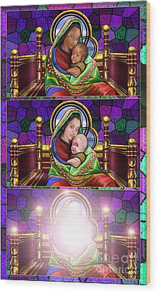 The Transfiguration Of Madonna And Child  Wood Print by Reggie Duffie