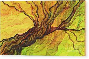 The Tree Book Wood Print by Hilda Lechuga