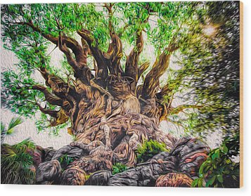 Wood Print featuring the photograph The Tree by Joshua Minso