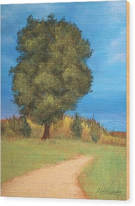 The Tree Wood Print by Marna Edwards Flavell