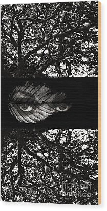 The Tree Watcher Wood Print