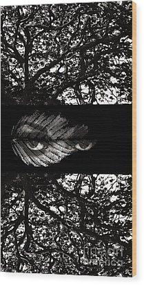 The Tree Watcher Wood Print by Nola Lee Kelsey
