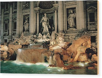 The Trevi Fountain Wood Print