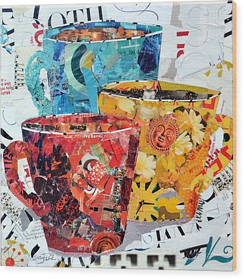 The Trio Wood Print by Suzy Pal Powell
