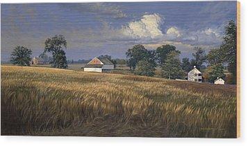 The Trostle Farm Gettysburg Wood Print by David Henderson