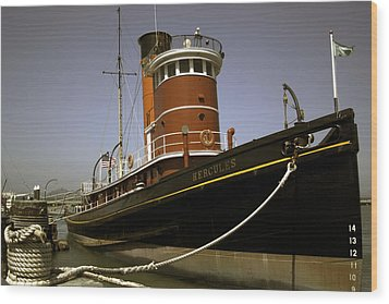 Wood Print featuring the photograph The Tug Boat Hercules by William Havle