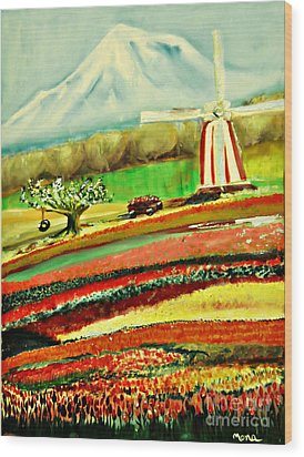 The Tulip Farm Wood Print by Mindy Bench