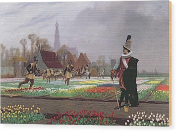 The Tulip Folly Wood Print by Jean Leon Gerome