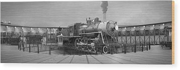The Turntable And Roundhouse Wood Print by Mike McGlothlen