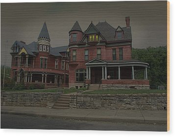 The Two Sisters Haunted House Wood Print by Tim McCullough