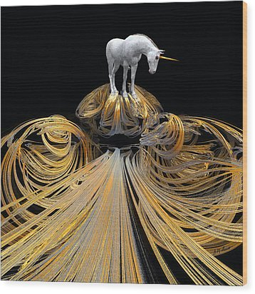 The Unicorns Golden Path Wood Print by Michael Durst