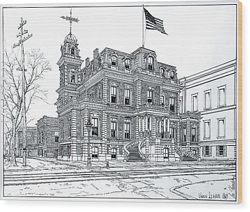 The Union League Philadelphia 1867 Wood Print