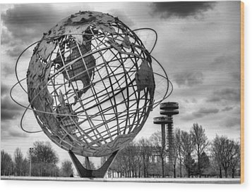 The Unisphere Wood Print by JC Findley