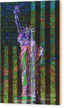 The United States Of America 20130115 Wood Print by Wingsdomain Art and Photography