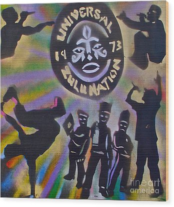 The Universal Zulu Nation Wood Print by Tony B Conscious