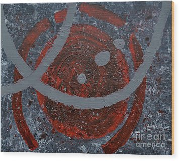 The Universe Abstract Art By Saribelle Rodriguez Wood Print