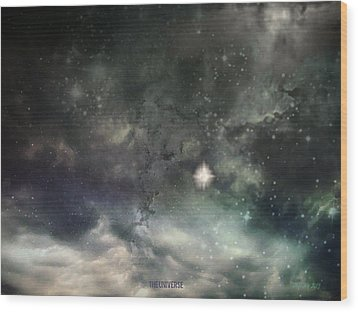 The Universe Wood Print by Cynthia Lassiter