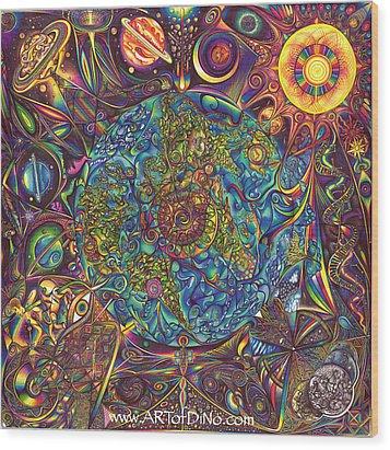 the UNIVERSE mandala Wood Print by DiNo
