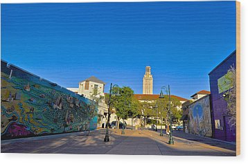 The University Of Texas Tower Wood Print by Kristina Deane