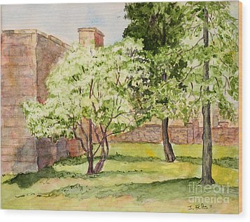 The University Of The South Campus Wood Print by Janet Felts