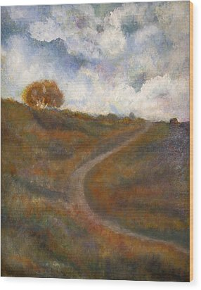 The Uphill Road Wood Print