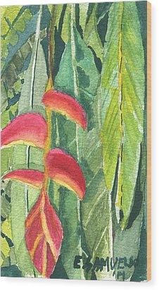 The Upside Down Flower Wood Print