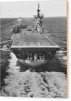 The U.s. Aircraft Carrier Uss Boxer Wood Print by Stocktrek Images