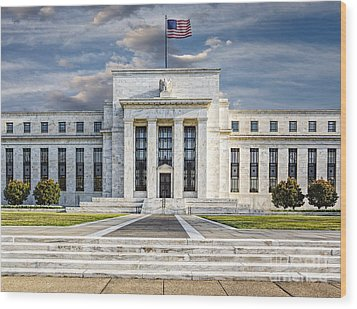 The Us Federal Reserve Board Building Wood Print by Susan Candelario