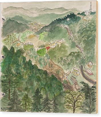 The Valley Beneath Mcleod Wood Print