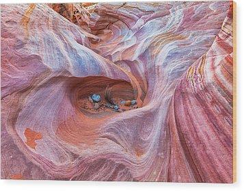 The Valley Eye Wood Print by Darren  White