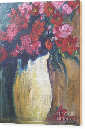 The Vase Wood Print by Sherry Harradence