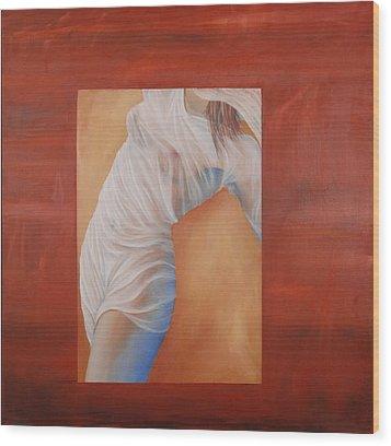 The Veil Wood Print by Neil Kinsey Fagan