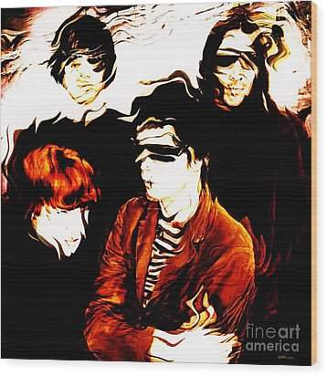 The Velvet Underground  Wood Print by Elizabeth McTaggart