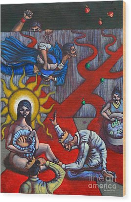 The Veneration Of Counterfeit Gods Wood Print by Paul Hilario