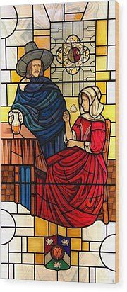 Wood Print featuring the glass art The Vermeer by Gilroy Stained Glass