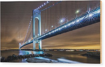 Wood Print featuring the photograph The Verrazano by Anthony Fields