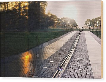 Wood Print featuring the photograph The Vietnam Wall Memorial  by John S