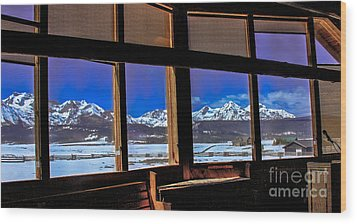 The View From The Sawtooth Valley Meditation Chapel Wood Print by Robert Bales