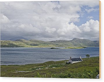 Wood Print featuring the photograph The View Northern Highlands Of Scotland by Sally Ross