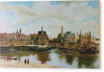 Wood Print featuring the painting The View Of Delft by Henryk Gorecki