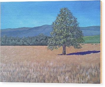 Wood Print featuring the painting The View by Suzanne Theis