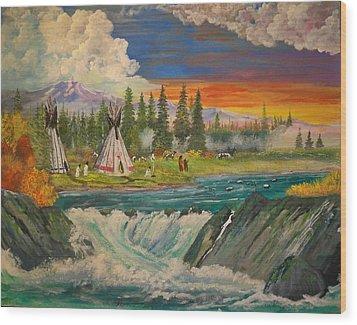 The Village II Wood Print
