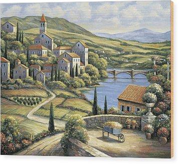 The Village Wood Print by John Zaccheo