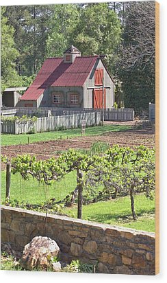 The Vineyard Barn Wood Print