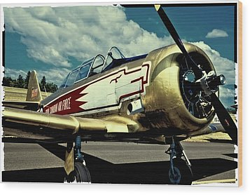 The Vintage North American T-6 Texan Wood Print by David Patterson