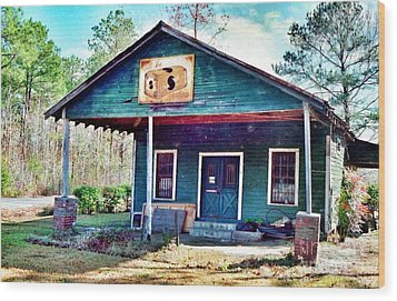 The Vintage Shop In Green Pond Wood Print